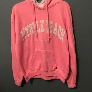 Myrtle Beach South Carolina Bright Pink Hoodie